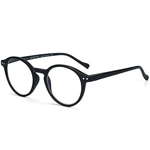 Leesbril met ronde montuur voor dames dames heldere lens bril verziendheid anti blauw licht leesbril eyewear # 11, 150, zwart