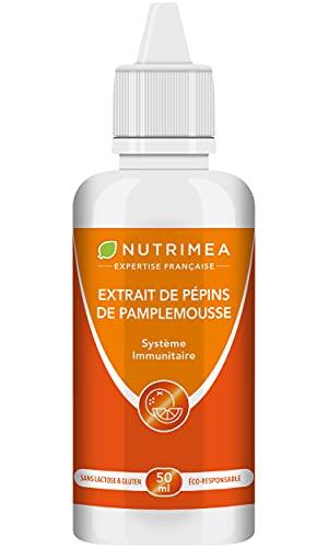 Extrait de Pépins de Pamplemousse liquide (EPP) - Renforce le système immunitaire - Antimicrobien naturel - Concentré en Bioflavonoïdes + Vitamine C - Compte-gouttes 50 ml - Fabriqué en France