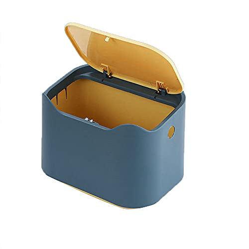 Cubo de Basura de Escritorio, Mini Cubo de Basura, Bote de Basura de Oficina, Bote de Basura Portátil, Bote de Basura Tipo Prensa, Limpieza de Escritorio, para Escritorio, Cocina, Sala de Estar