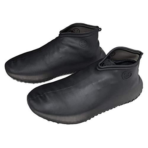 JoyCube Impermeabile Copriscarpe,Copriscarpe in silicone,Stivali da pioggia riutilizzabili,Copriscarpe per scarpe ospiti elastiche antiscivolo con motivo a pneumatici,Adatto per i giorni di pioggia