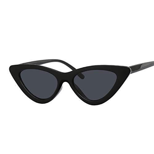 AleXanDer1 Gafas de Sol Triángulo Gato Gafas de Sol Gafas de Mujer Gafas para Mujer pequeño Marco Negro Espejo (Lenses Color : C4)