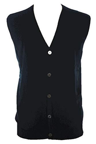 Shephe Men's Cashmere Cardigan Button Vest Black XXX-Large