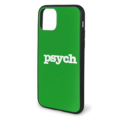 GBEBFA Psych Compatible with iPhone 12/12 Pro MAX Mini 6/6s Plus 7/8 Plus/SE 2020 X/XS XR 11 Pro MAX Phone Cases Cover-Black