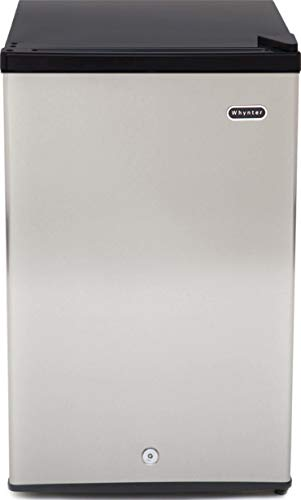 Whynter CUF-301SS Energy Star 3.0 cubic feet Upright Freezer Stainless Steel door with Security Lock with Reversible Door