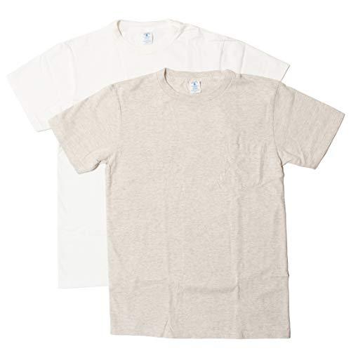 [ベルバシーン] パックT 2枚入り ポケット付き クルーネック Tシャツ アメリカ製 160920 (S, ホワイト/オー...