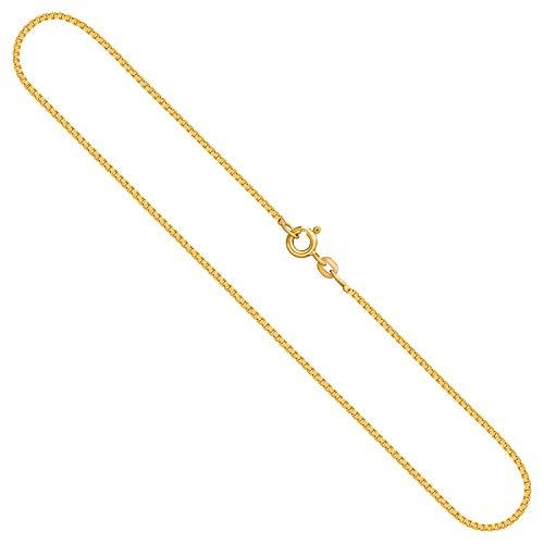Goldkette, Venezianerkette Gelbgold 585/14 K, Länge 42 cm, Breite 1.2 mm, Gewicht ca. 4.2 g, NEU
