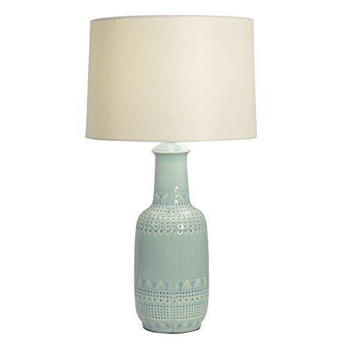 Décor Therapy TL14117 - Lámpara de mesa (cerámica), diseño estampado, color verde