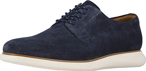 Florsheim Mens Fuel 5-Eye Plain Toe Navy Suede Oxford - 9.5 M
