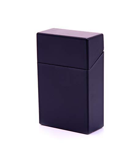 Zigarettenboxen Kunststoff bunt Sortiert Auswahl von Gr. L (20 Zigaretten) XL (25) XXL (30) und XXXL (40) (Schwarz Größe L für 20 Zigaretten)