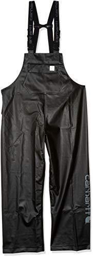 Carhartt Men's Waterproof Loose Fit Heavyweight Bib Overalls, Black, Large