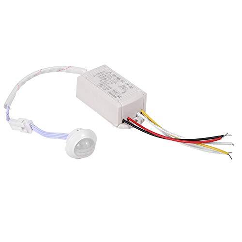 Zerodis Sensor-Schalter, AC 220 V, hochempfindliches Modul, Infrarot-Sensor, intelligenter Licht-Bewegungsmelder, Schalter für Flur, Badezimmer, Keller, Lager, Garage