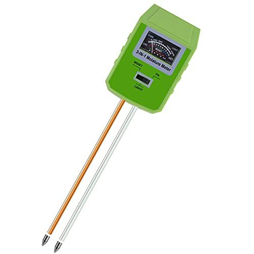 MIAOKU 3 en 1 Medidor de Suelos, Monitor Plantas Inteligente Probador de Suelos Monitorea Los Nivele de Humedad Luz PH Higrómetro de Monitor de Agua de Suelo, para Interior o Exterior