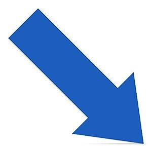 Cinsey 20 Pack Pegatina Flechas Adhesivas Suelo Azul,30 * 15cm Vinilo Autoadhesivo Pegatinas de Seguridad para Indicación Recorrido Seguridad