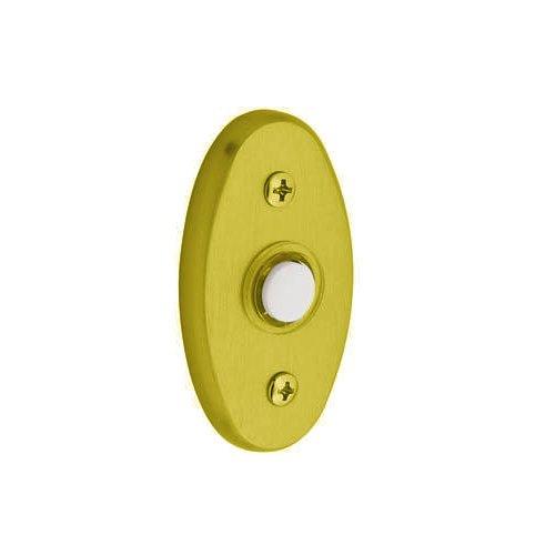 Baldwin 4858.003 Oval Doorbell Button, Lifetime Polished Brass