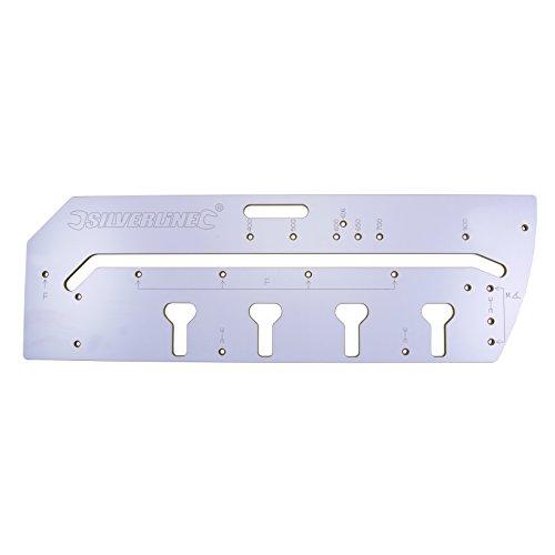 Silverline 633488 Frässchablone für Arbeitsplatten-Verbindungen 900 mm