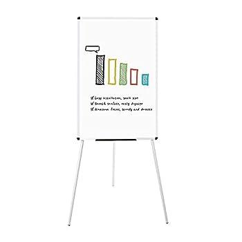 VIZ-PRO Light Melamine Tripod Whiteboard/Flipchart Easel 24  W x 36  L