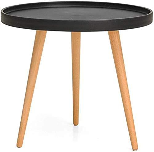 Mesa redonda pequeña N/A, mesa auxiliar, mesa de aperitivos, mesa de sofá, uso interior y exterior para poner cosas pequeñas, negro, x1