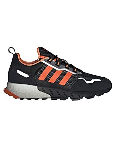 adidas ZX 1K Boost-SEASONALITY, Zapatillas de Running Hombre, Core Black Solar Orange Silver Met, 44 2/3 EU