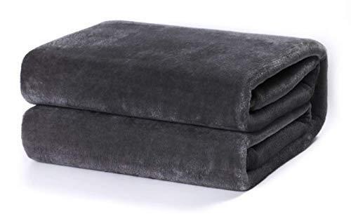 TIENDA EURASIA® Mantas para Sofá de Terciopelo - Material 100% Microfibra - Tacto Suave Sedalina (Gris, 130 X 160 CM)