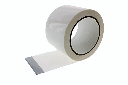 2 in x 55 yd White House Wrap Tape Sheathing Building Wrapping Housewrap Sheath Tape Insulation Seaming Plastic Sheets for Sealing TYVEK in Construction or Moisture Dust Barrier Asbestos Abatement