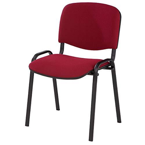 Siège visiteur empilable - dossier rembourré, piétement chromé - habillage anthracite, lot de 2 - chaise chaise empilable chaise empilable rembourrée chaises chaises empilables chaises empilables