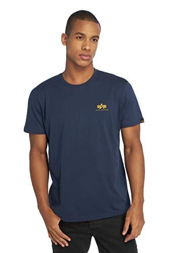 ALPHA INDUSTRIES Basic T Small Logo Camiseta, New Navy, L para Hombre