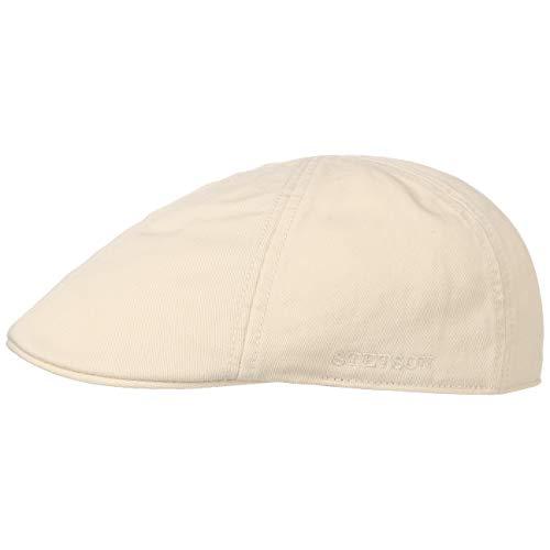 Stetson Texas Cotton Flatcap mit UV Schutz 40+ - Schirmmütze aus Baumwolle - Unifarbene Mütze Frühjahr/Sommer Hellbeige XL (60-61 cm)