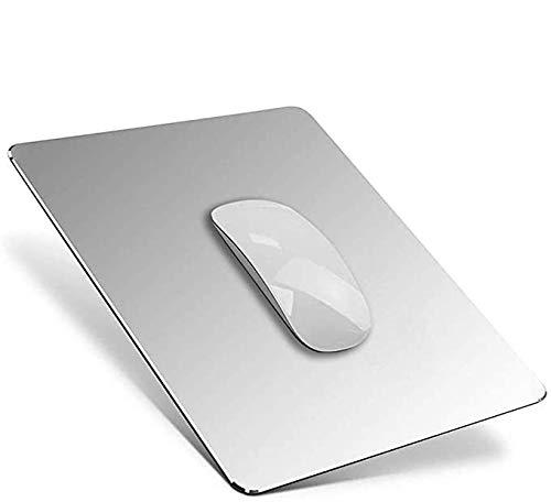 Salandens Alfombrilla mouse pad ,Alfombrilla de ratón de aluminio para juegos compatible con Magic Mouse, alfombrilla de ratón de...