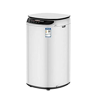 LAMTON Portable Washing Machine Lazy washing machine one-button start Automatic dewatering machine (Color : White)