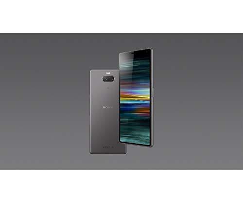 Sony Xperia 10 Smartphone (15,24 cm (6 Zoll) 21:9 Full HD+ Display, 64 GB Speicher, Dual-SIM, Split-Screen, Android 9) Silber