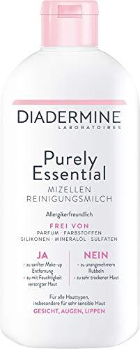 Diadermine Purely Essential Milch Mizellen Reinigungsmilch, 1er Pack (1 x 400 ml)