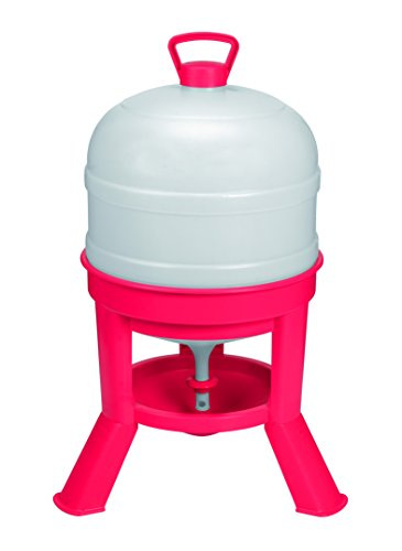 Little Giant Plastic Dome Waterer (8 Gal) Heavy Duty Plastic Gravity Fed Poultry Waterer Container Tank (Red) (Item No. DOMEWTR8)