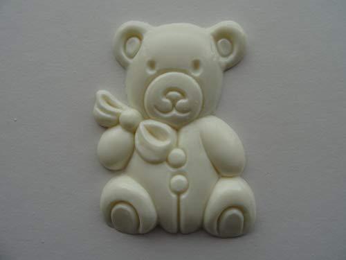 Dekorative Teddybär-Möbel-Zierleisten, Kunstharz-Applikation, NR25, 5,5 cm x 7 cm x 6 mm.