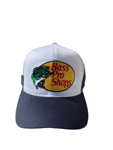 Authentic Bass Pro Shop Men's Trucker Hat Mesh Cap Snapback Closure One Size Fits Most Great for Hunting & Fishing Navy
