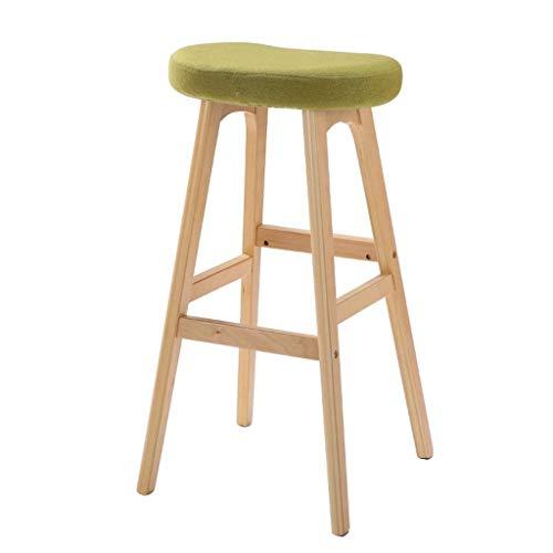 Barkruk, barstoel, van massief hout, Europese stijl, creatieve bar, stoel van massief hout, voor buiten, krukken, hoge stoel, comfortabele barstoel B