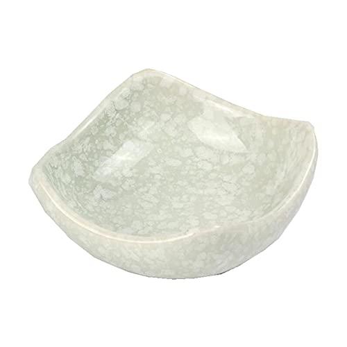 QZH Plato de cerámica para Salsa, Comida, Aperitivo, condimento, Sushi, Wasabi, Plato de inmersión para Servir (J)