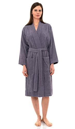 TowelSelections Women's Robe Turkish Cotton Terry Kimono Bathrobe Large/X-Large Daybreak