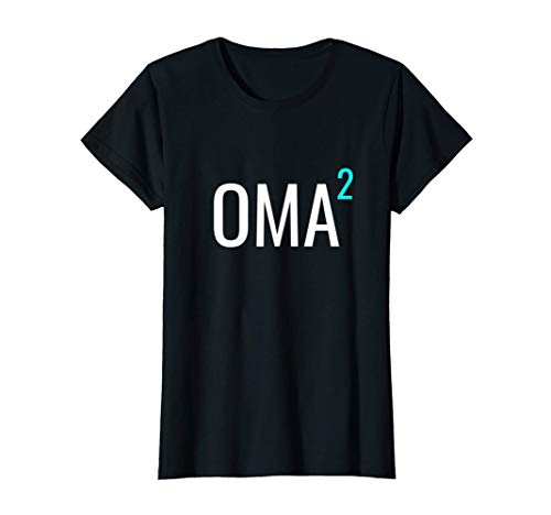 Mujer Oma hoch 2 - Mathematik-Design Deutsch Großmama zweier Enkel Camiseta