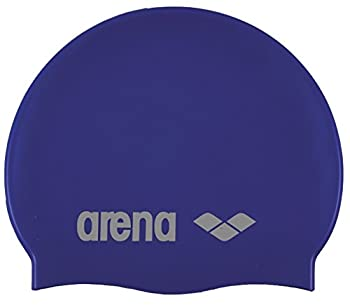 Arena Silicone Unisex Swim Cap for Women and Men Prints and Solid Colors Skyblue / White Adult