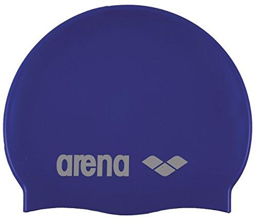 arena Unisex Badekappe Classic Silikon (Verstärkter Rand, Weniger Verrutschen der Kappe, Weich), Skyblue-White (77), One Size