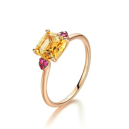 ROMQUEEN 18 Karat(750) Gelbgold Diamantring Cartier Ringe Verlobung Paar Silber Größe 50(15.9)