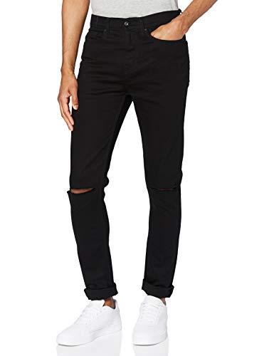 Marchio Amazon - find. Jeans Skinny Uomo, Nero (Black), 30W / 32L, Label: 30W / 32L