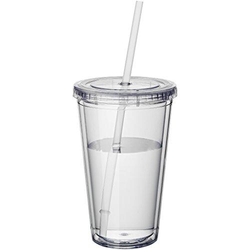 Bullet - Vaso aislante con pajita modelo Cyclone (15.5 x 10 cm) (Transparente)