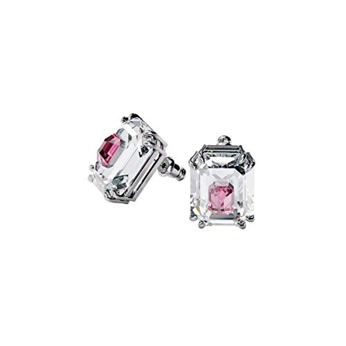Swarovski Chroma Earrings, Pink, Rhodium plated