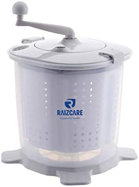 RaizCare Portable Compact Hand Cranked Washing Machine Detachable Spin Dryer Bucket Non Electric product image