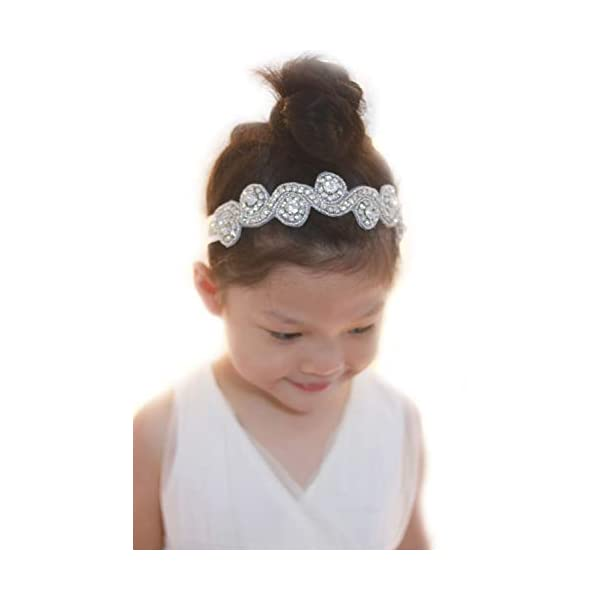 Missgrace Bridal Crystal Flower Girl Headband Wedding Hair Accessories Hair Jewelry...