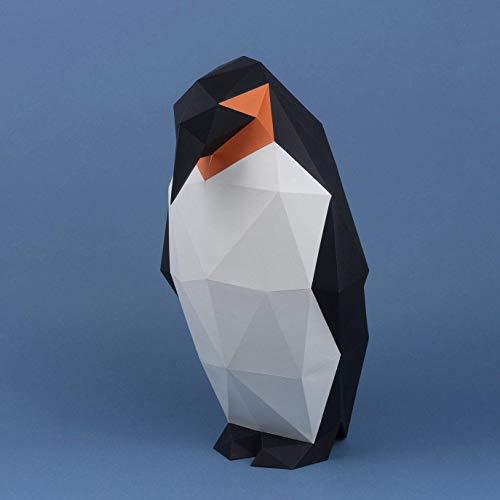 Pinguin, Yona DIY Papercraft kit, Pinguin papiermodell, 3D Origami Kit von Hand zusammenzubauen, Heimdekoration, Geschenk, Origami 3D, Papier Handwerk, Puzzle 3D,Penguin.