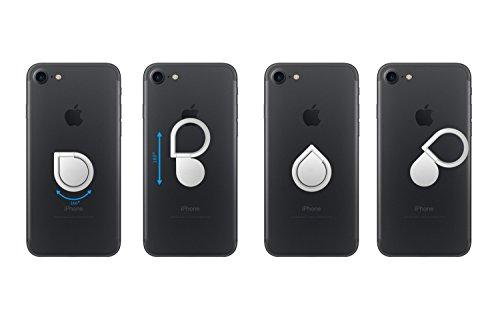 360° drehbarer Smartphone Fingerhalter (Schwarz) - 6