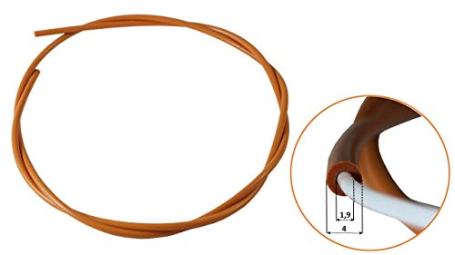 ruthex Impresora 3D Tubo de PTFE de gama alta / Bowden (1m) para filamento de 1.75 mm | Aditivo aditivo | ID 1.9mm OD 4mm | Anycubic | Ender | E3D V6 | Anet | Prusa i3