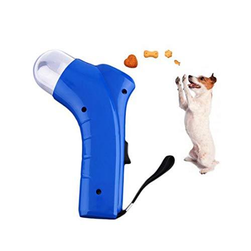 Lançador De Petiscos E Ração Brinquedo Para Cães E Gatos - Azul